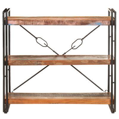 vidaXL Estantería de 3 niveles de madera maciza reciclada 90x30x80 cm
