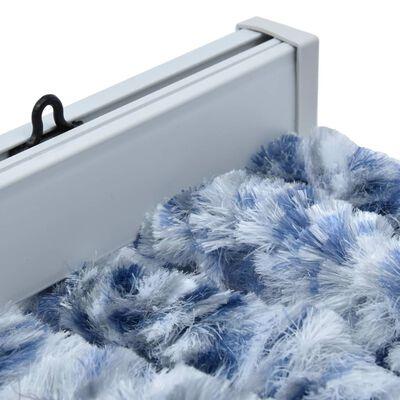 vidaXL Cortina mosquitera azul y blanco chenilla 90x200 cm