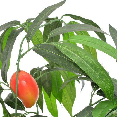 vidaXL Planta artificial árbol de mango con macetero verde 150 cm