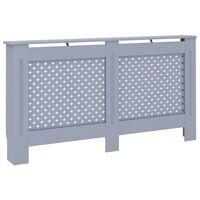 vidaXL Cubierta para radiador MDF gris antracita 152x19x81 cm