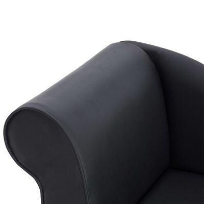 vidaXL Diván de cuero sintético negro