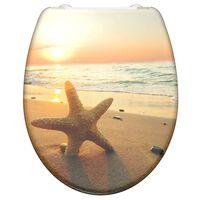 SCHÜTTE Tapa de váter con cierre suave SEA STAR duroplástico estampado