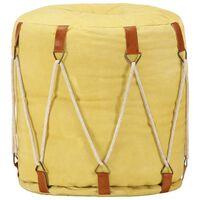 vidaXL Puf amarillo 40x40 cm lona de algodón