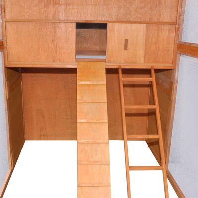 vidaXL Gallinero de madera 295x163x170 cm