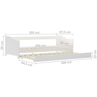 vidaXL Estructura de sofá cama madera de pino blanco 90x200 cm