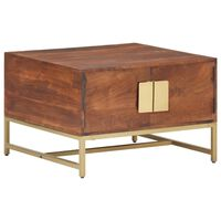 vidaXL Mesa de centro madera maciza de acacia marrón miel 67x67x45 cm