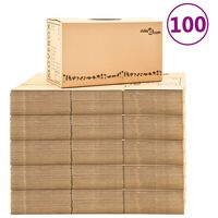 vidaXL Cajas de mudanza 100 unidades cartón XXL 60x33x34 cm