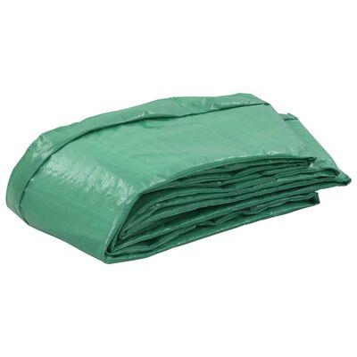 vidaXL Alfombrilla de seguridad cama elástica PE redonda verde 3,96m