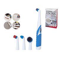 Cepillo De Limpieza Eléctrico Multifuncional - Incluye 4 Cabezales De