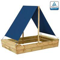 vidaXL Arenero con tejado de madera de pino impregnada 160x100x133 cm