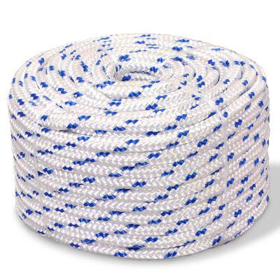 vidaXL Cuerda marina de polipropileno 6 mm 100 m blanca