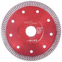 vidaXL Disco de corte de diamante con agujeros acero 125 mm