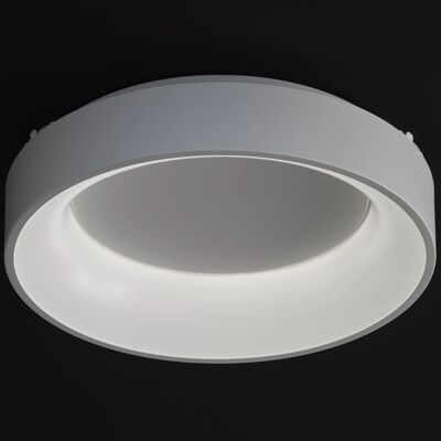 Wofi Lámpara de techo LED Cameron 45x11 cm blanca
