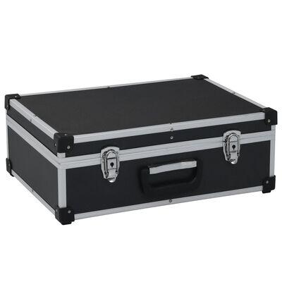 vidaXL Maletín de herramientas aluminio negro 46x33x16 cm