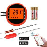 Termómetro de fritura inalámbrico inteligente con 2 sensores