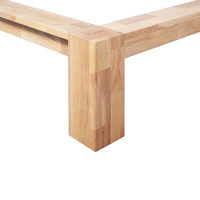 vidaXL Estructura de cama de madera maciza de roble 140x200 cm