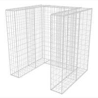 vidaXL Gaviones para ocultar contenedor acero 110x100x120 cm