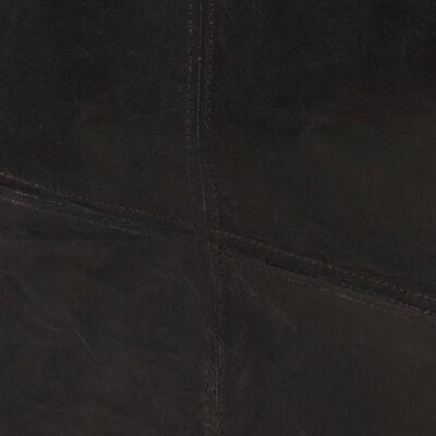 vidaXL Sillón de cuero auténtico negro