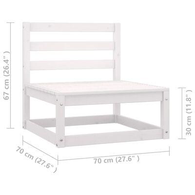 vidaXL Muebles de jardín 8 piezas con cojines blanco madera de pino