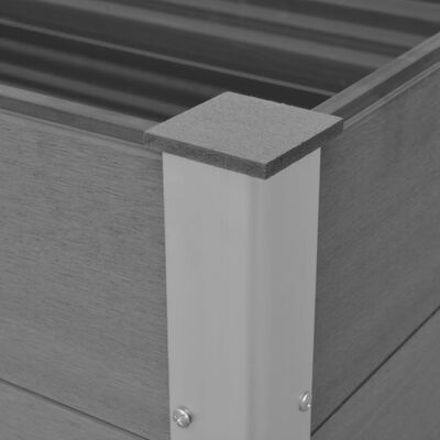 vidaXL Arriate de WPC gris 150x100x91 cm