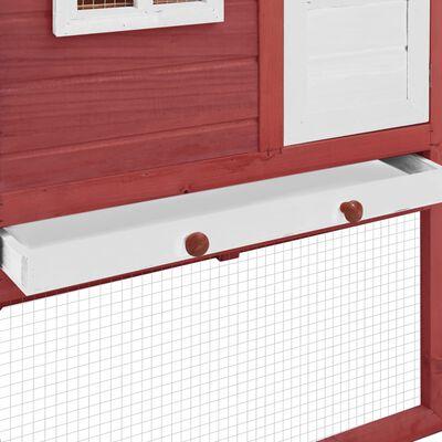 vidaXL Gallinero con ponedero madera maciza de abeto blanco y rojo