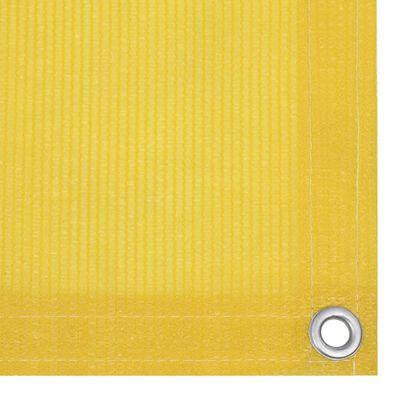 vidaXL Toldo para balcón HDPE amarillo 120x400 cm