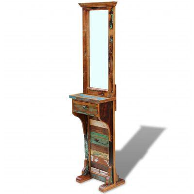 vidaXL Espejo para pasillo madera maciza reciclada 47x23x180 cm