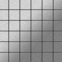 ALLOY Cinquanta-S-S-B Mosaico de metal sólido Acero inoxidable gris
