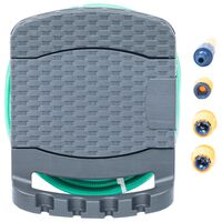 vidaXL Carrete de manguera de pared+manguera plástico gris antracita