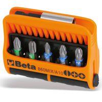 Beta Tools Juego puntas con soporte magnético 10 piezas 860MIX/A10