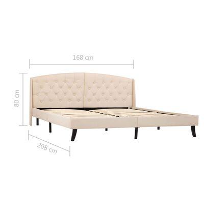 vidaXL Estructura de cama de tela color crema 160x200 cm