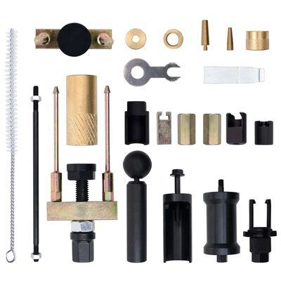 vidaXL Set de extractores de inyectores gasolina diésel 23 piezas