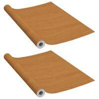 vidaXL Láminas autoadhesivas para muebles PVC roble claro 500x90 cm
