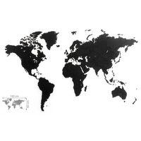 MiMi Innovations Mapa decorativo de pared Luxury puzzle negro 100x60cm