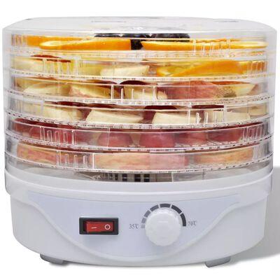 vidaXL Deshidratador de alimentos con 6 bandejas apilables redondo