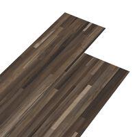 vidaXL Lamas para suelo de PVC autoadhesivas marrón a rayas 5,02m² 2mm