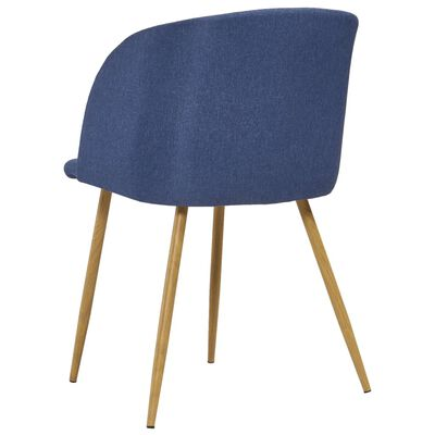 vidaXL Juego de comedor 5 piezas tela azul