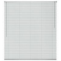 vidaXL Persiana aluminio 80x160 cm plateada