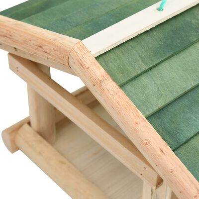 vidaXL Comedero para pájaros madera maciza 35x29,5x21 cm