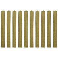 vidaXL Valla de jardín de listones 10 piezas madera 100 cm