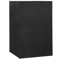 vidaXL Cobertizo de cubo de basura ratán sintético negro 76x78x120 cm