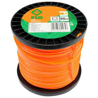FLO Cable de cortacésped Extranyl naranja 2,4 mm 90 m