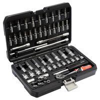 YATO Juego de herramientas 56 piezas metal negro YT-14501