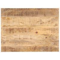 vidaXL Superficie de mesa madera maciza de mango 25-27 mm 80x60 cm