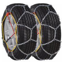2 cadenas de nieve para neumáticos automóvil / coche, 12 mm KN 80
