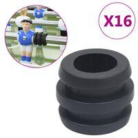 vidaXL Topes de jugador de futbolín 15,9/16 mm barra 16 piezas