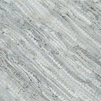 vidaXL Alfombra chindi tejida a mano cuero 120x170 cm gris