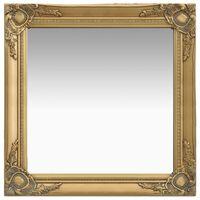 vidaXL Espejo de pared estilo barroco dorado 60x60 cm