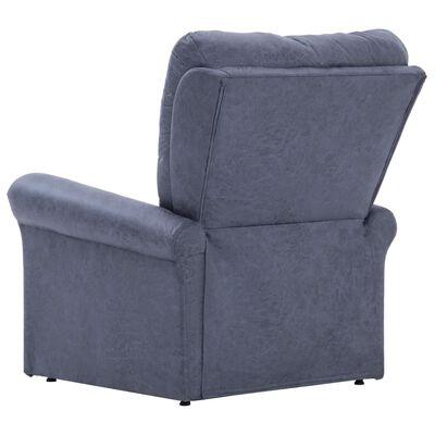 vidaXL Sillón reclinable de piel de ante artificial gris