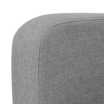 vidaXL Sofá de 2 plazas 135x65x76 cm gris claro